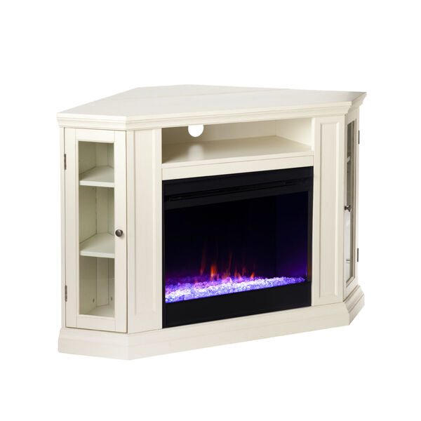Claremont Ivory Color Changing Convertible Electric Fireplace, image 5