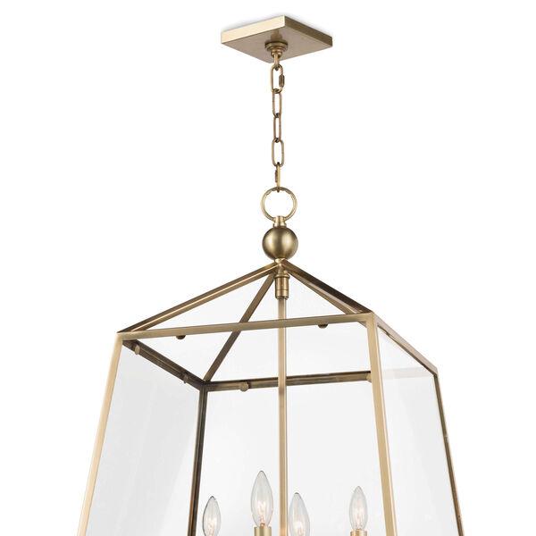 Classics Natural Brass Four-Light Pendant, image 2