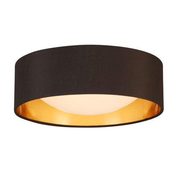 Orme Black and Gold LED 12-Inch Flush Mount, image 1