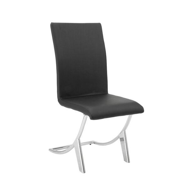 Cordelia Black 17-Inch Side Chair, Set of 2, image 2