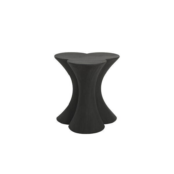 Carlin Textured Charcoal Black End Table - (Open Box), image 1