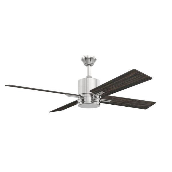Teana Brushed Polished Nickel Ceiling Fan with LED Light, image 2
