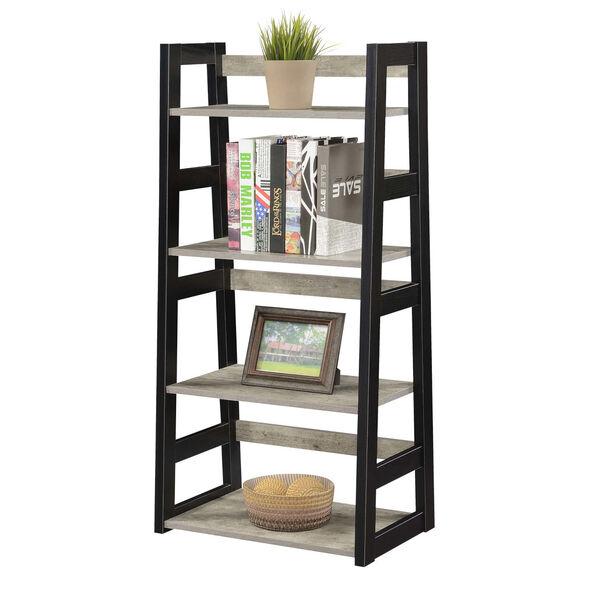 Designs2Go Faux Birch Black Trestle Bookcase, image 3