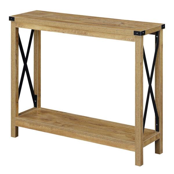Durango English Oak Black Accent Console Table, image 3