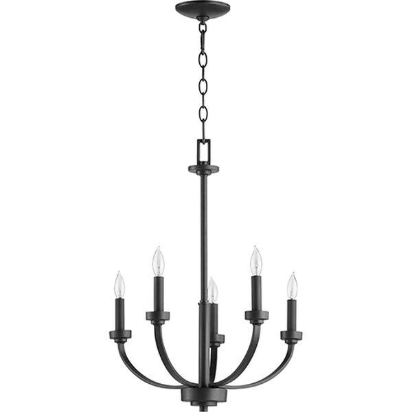 Mansfield Black Five-Light Chandelier, image 1