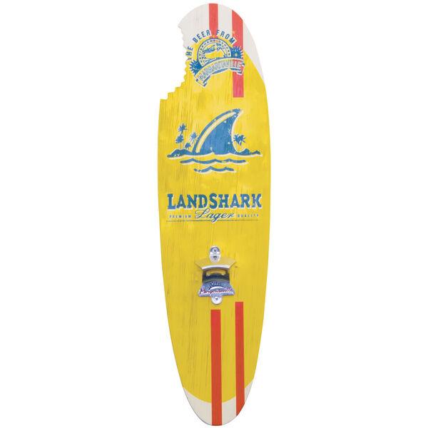 Yellow Landshark Bottle Opener Sign with Magnetic Cap Catcher, image 1