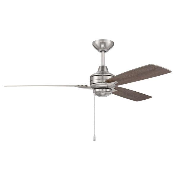 Moto Brushed Polished Nickel 52-Inch Ceiling Fan, image 3