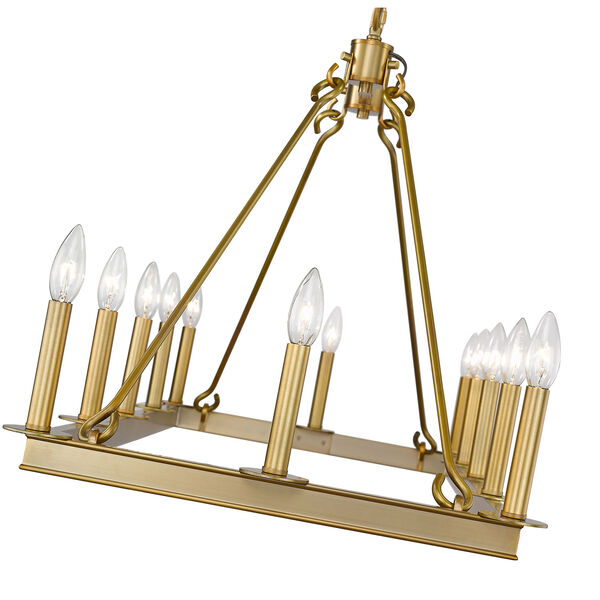 Barclay Olde Brass 12-Light Island Chandelier, image 6