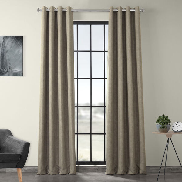 Grey 84 x 50-Inch Polyester Blackout Curtain Single Panel, image 1