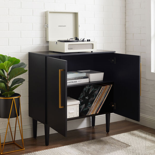 Everett Matte Black Console Cabinet, image 3