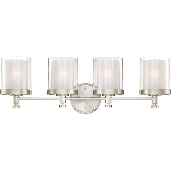 Selby Brushed Nickel Four-Light Bath Sconce, image 1
