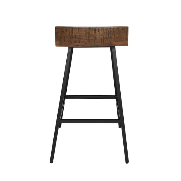 Pennie Caramel Brown and Black Counterstool, image 4