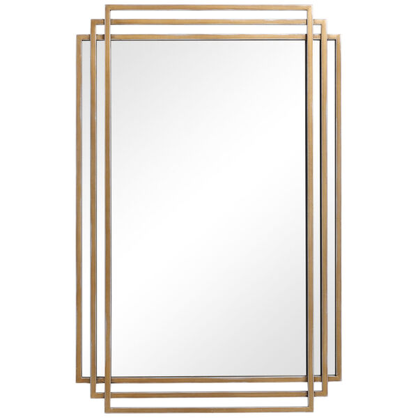 Amherst Brushed Gold Mirror, image 2