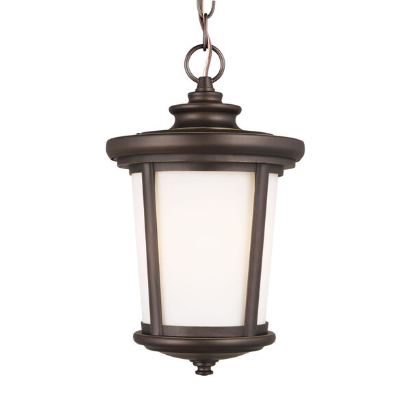 Eddington Antique Bronze One-Light Outdoor Pendant with Cased Opal Etched Shade, image 4