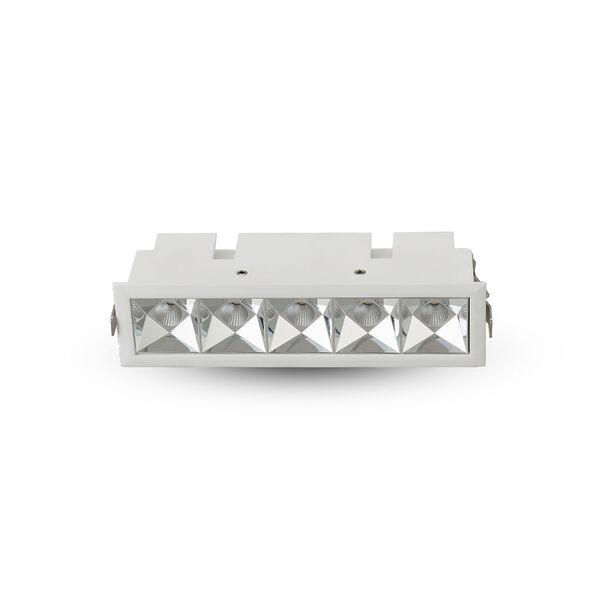 Rubik White Five-Light LED Recessed Downlight, image 1