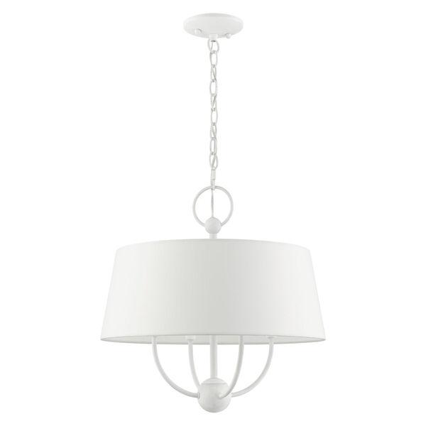 Ridgecrest White Four-Light Chandelier, image 2