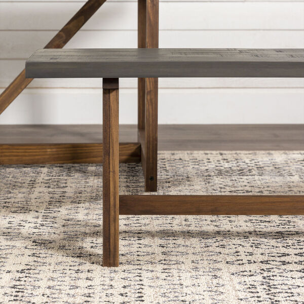 Brennan Gray and Brown Dining Bench, image 5