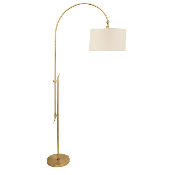 Windsor Antique Brass 84-Inch One-Light Adjustable Floor Lamp, image 1