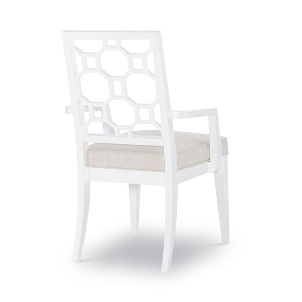 Chelsea by Rachael Ray White with Gold Accents Arm Chair, Set of Two, image 2