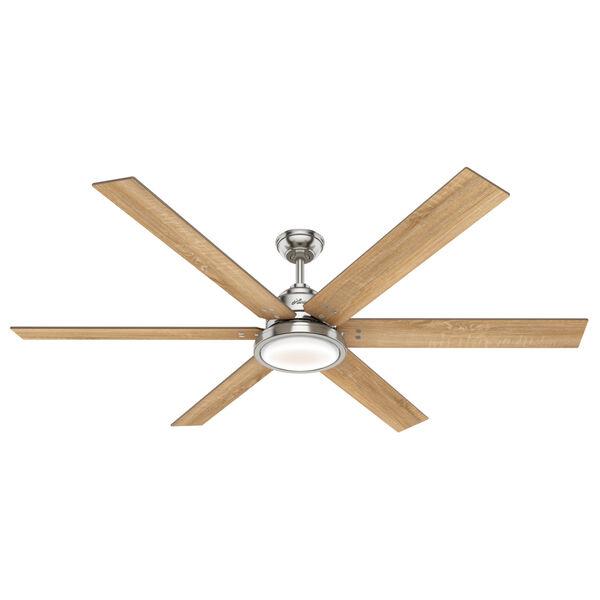 Warrant Brushed Nickel 70-Inch DC Motor LED Ceiling Fan, image 1