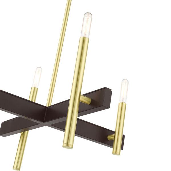 Denmark Satin Brass Four-Light Chandelier, image 5