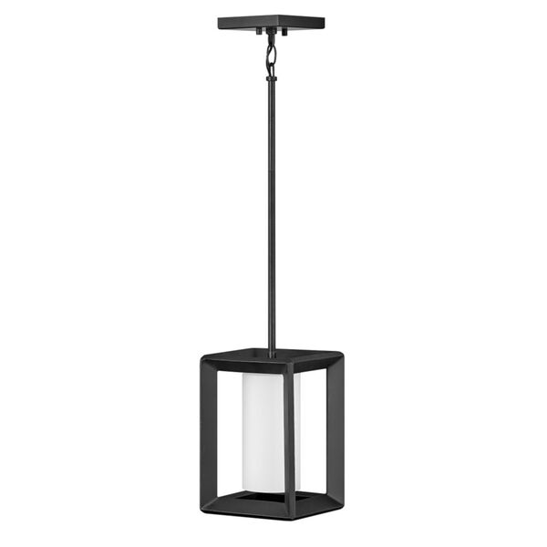 Rhodes Brushed Graphite One-Light Outdoor Pendant, image 1