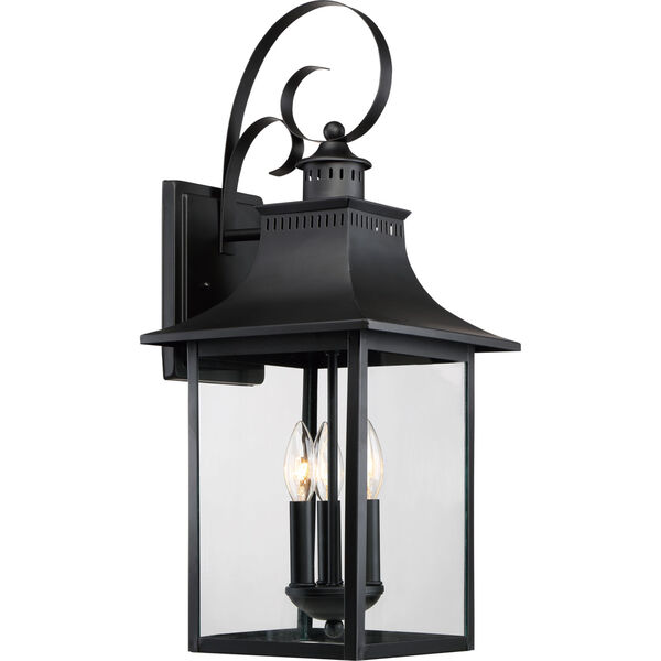 Chancellor Mystic Black Three-Light Outdoor Wall Sconce, image 1