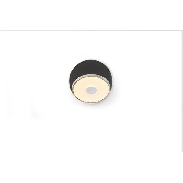 Gravy Chrome Metallic Black LED Plug-In Wall Sconce, image 2