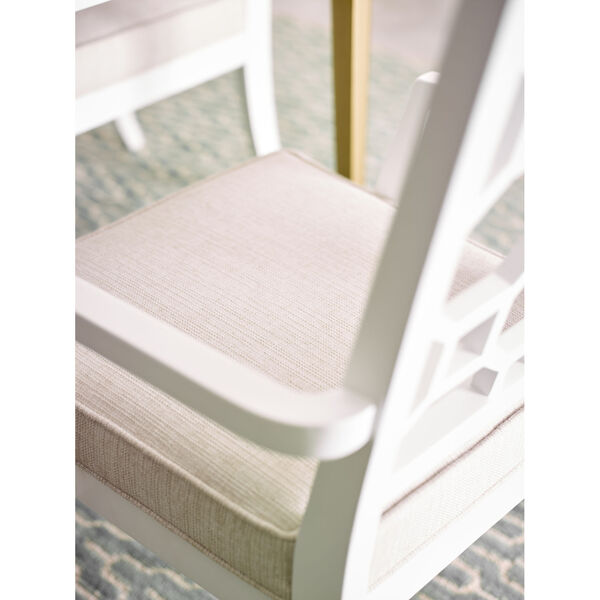 Chelsea by Rachael Ray White with Gold Accents Arm Chair, Set of Two, image 3