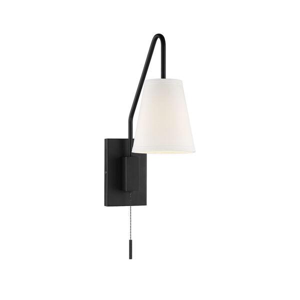 Owen Matte Black One-Light Sconce, image 1