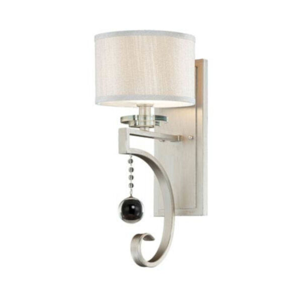 Eden Silver Seven-Inch One-Light Wall Sconce, image 1