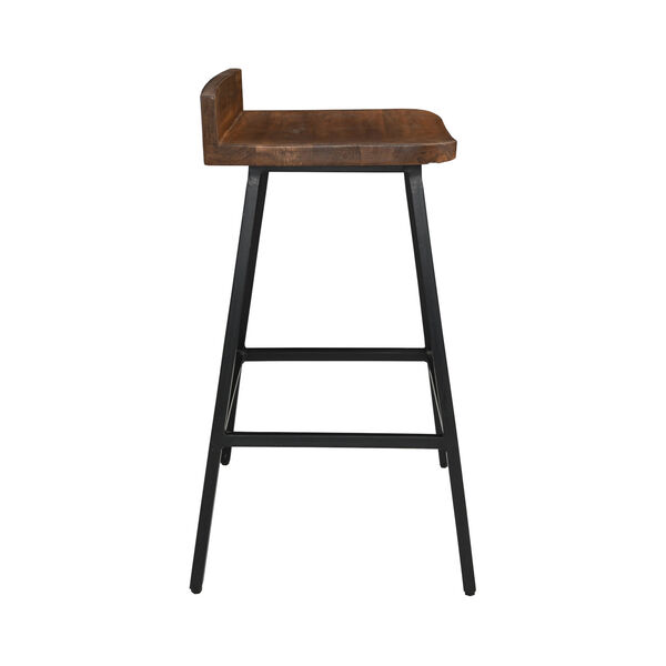 Pennie Caramel Brown and Black Counterstool, image 3