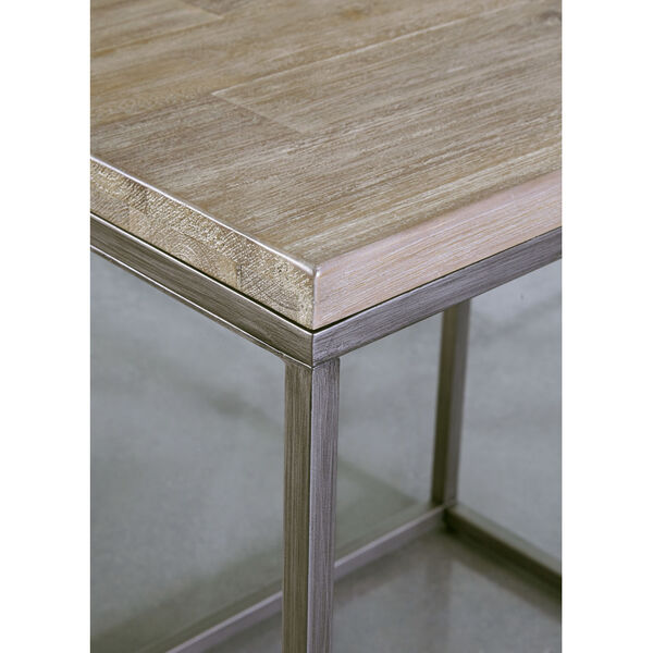 Julien Rectangle Coffee Table with Acacia Wood Top, image 2