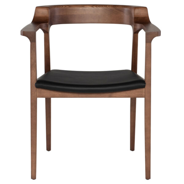 Caitlan Walnut and Black Dining Chair, image 2