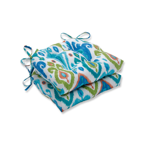 Paso Caribe Blue Reversible Chair Pad (Set of 2), image 1