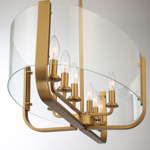 Campisi Brass Eight-Light Oval Chandelier, image 3
