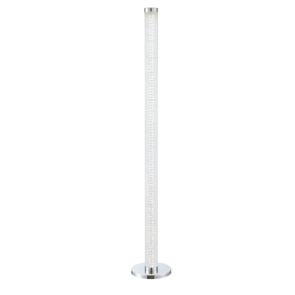Quilla Chrome Diamond Acrylic LED Floor Lamp, image 1