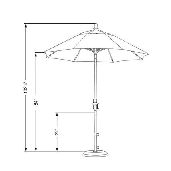 7.5 Foot Umbrella Fiberglass Market Collar Tilt - Bronze/Sunbrella/Navy, image 2