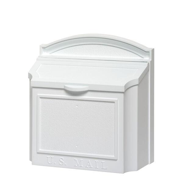 White Wall Mailbox, image 1