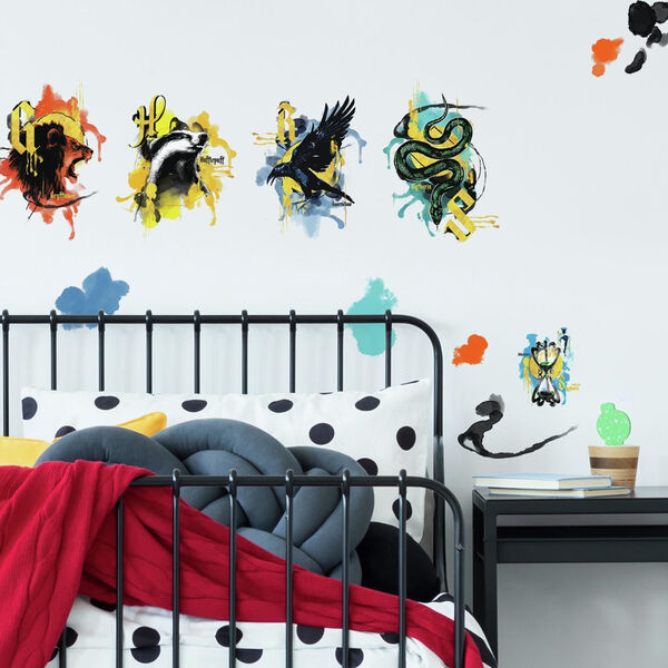 Harry Potter Hogwarts House Orange, Yellow And Blue Peel and Stick wall Decal - SAMPLE SWATCH ONLY, image 1