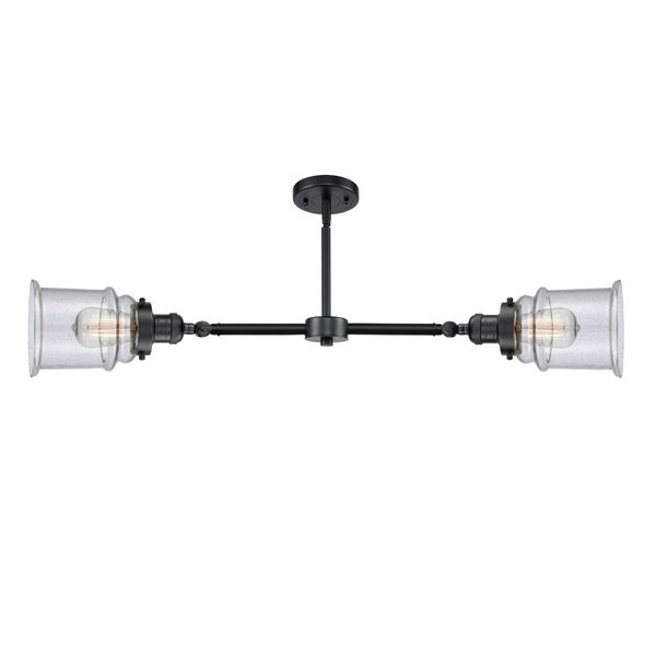 Franklin Restoration Oil Rubbed Bronze 10-Inch Two-Light LED Chandelier with Seedy Canton Shade, image 2