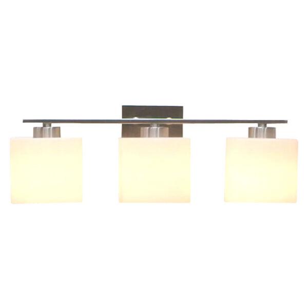 Steele Brushed Nickel Three-Light Vanity, image 2