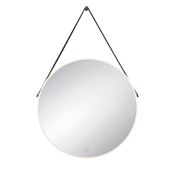 Silver One-Light LED Mirror, image 1