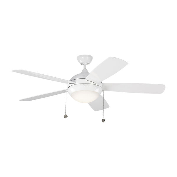 Discus Outdoor White 52-Inch LED Outdoor Ceiling Fan, image 3