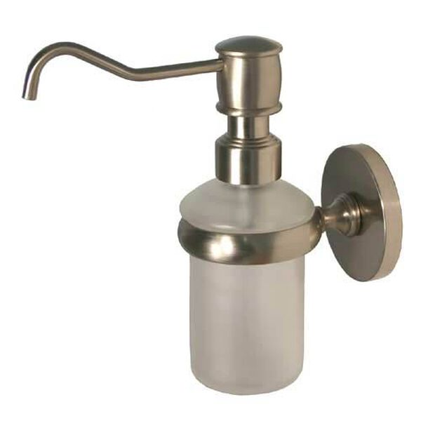 Prestige Skyline Satin Nickel Wall-Mounted Soap Dispenser, image 1