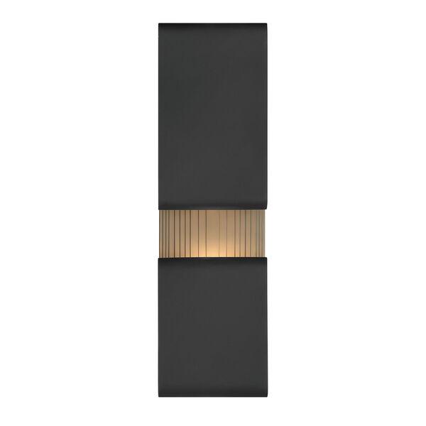 Contour Black Six-Inch LED Wall Mount, image 2