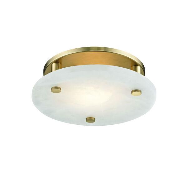 Croton Aged Brass 12-Inch LED Flush Mount, image 1