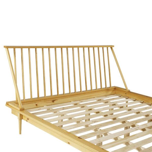Light Oak Solid Wood Spindle Platform King Bed, image 6
