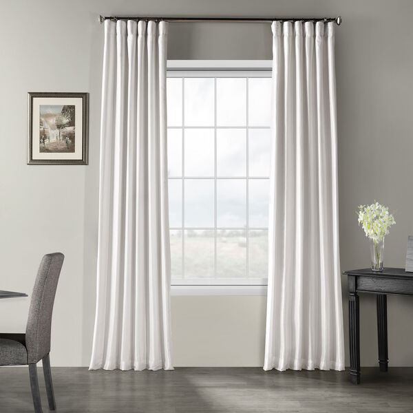 Ice Vintage Textured Faux Dupioni Silk Single Panel Curtain, 50 X 120, image 1