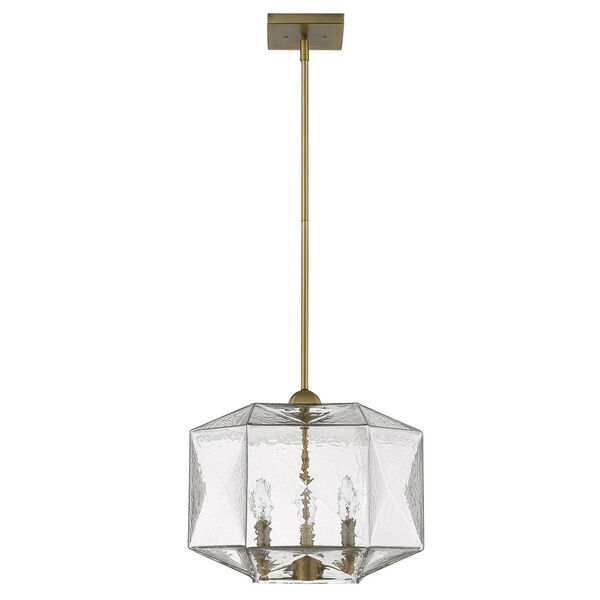 Loft Brass Three-Light Pendant, image 1